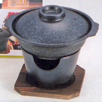 Details about Japanese Yosenabe Sukiyaki Nabe Hot Pot + Stove H-5363