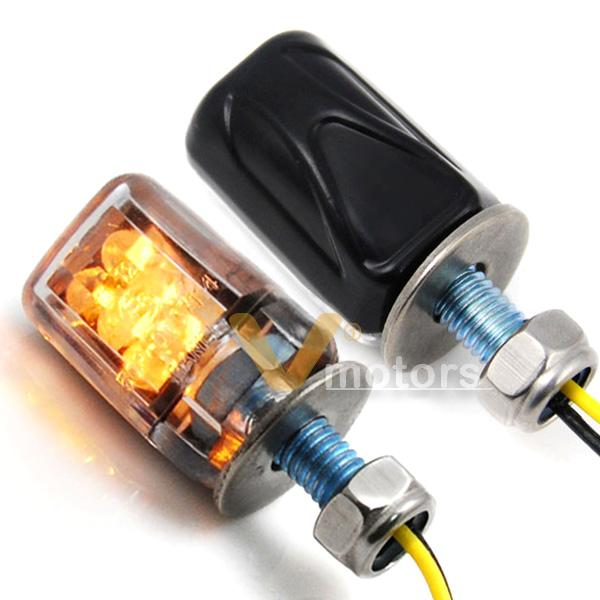 high power black motorcycle mini amber led turn signal. Black Bedroom Furniture Sets. Home Design Ideas