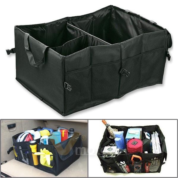 multipurpose car suv organizer folding collapsible cargo storage box bag black ebay
