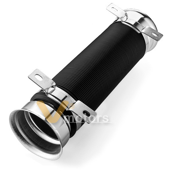 Universal Turbo Hose: Chrome Universal Turbo Cold Air Intake Inlet Pipe Duct