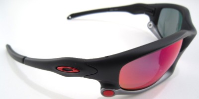 c220e7312d New Oakley Sunglasses Split Jacket Matte Black +Red Iridium Polarized