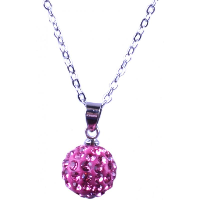 Shamballa-Necklace-Pendant-Czech-Crystal-Clay-Disco-Ball-Silver-FREE-GIFT-BAG-UK