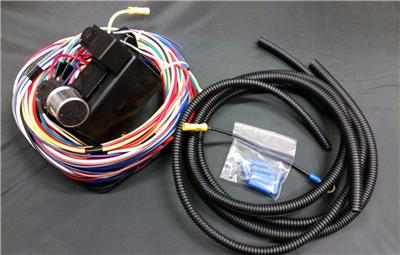 street rod wiring harness kit universal 15 circuit street rod wiring wire harness kit ... street rod wiring schematic with connectors
