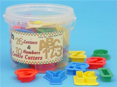 New 10 numbers 26 alphabet cookie playdough cutters ebay for Playdough letter cutters