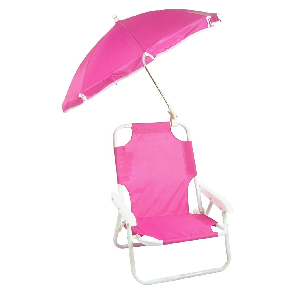 NEW Children s Folding Beach Chair with Umbrella PINK