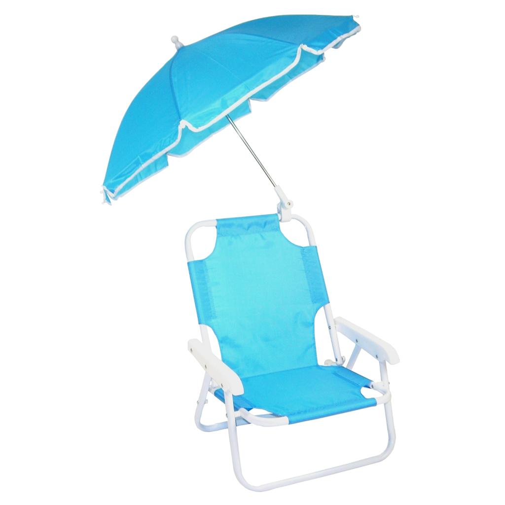 NEW Children s Folding Beach Chair with Umbrella BLUE