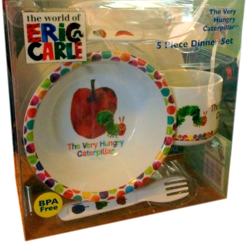 ... The-Very-Hungry-Caterpillar-Melamine-Dinner-Set-5pc- & The Very Hungry Caterpillar Melamine Dinner Set 5pc - Plate Bowl ...
