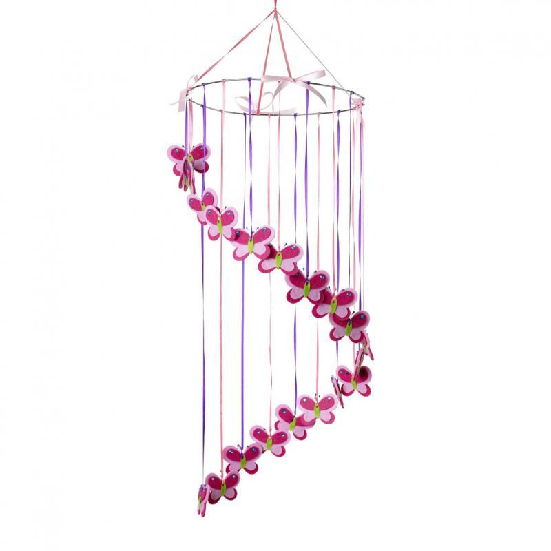 New rouge living felt butterfly hanging nursery baby for Hanging room decor