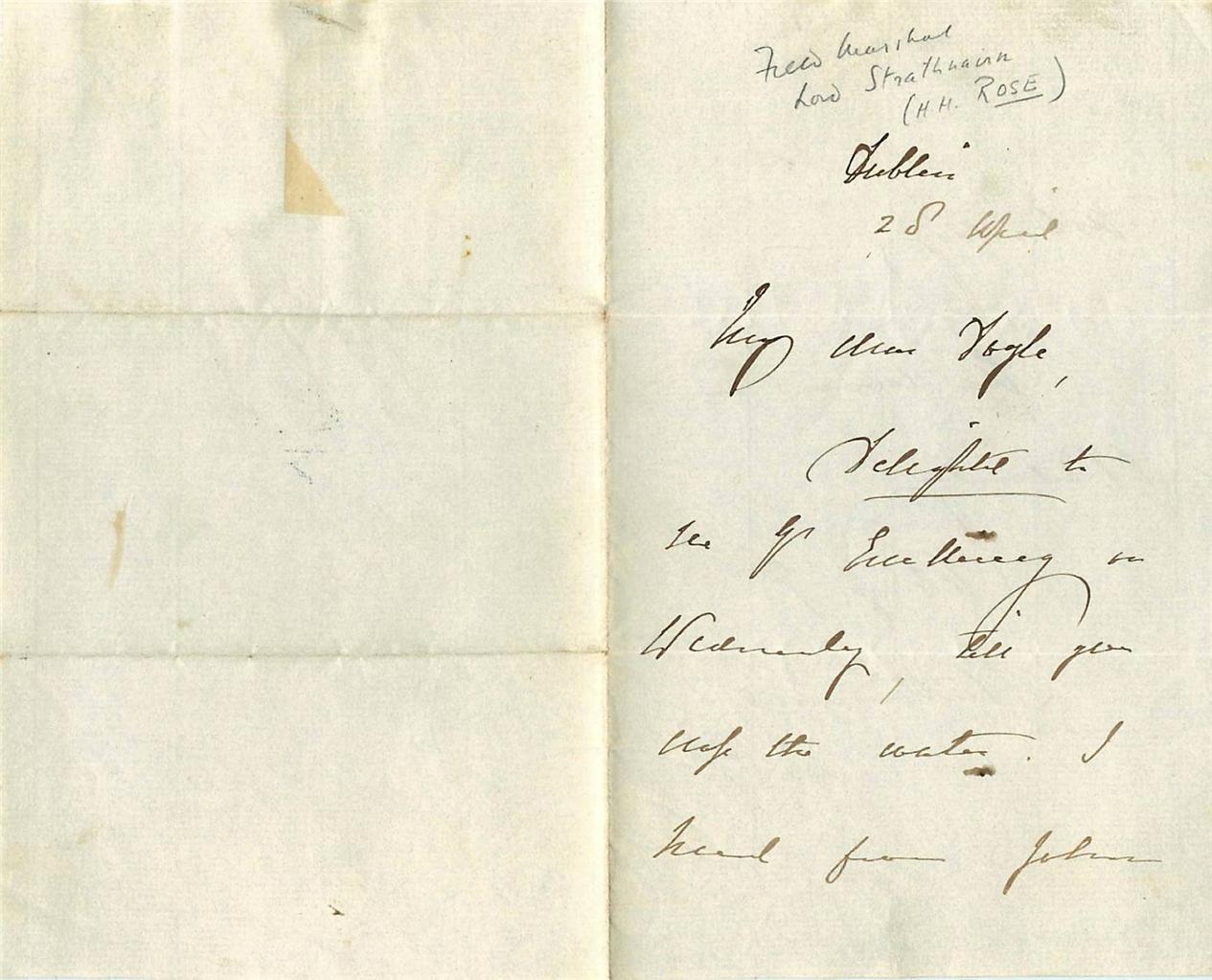 Vintage-Autograph-Letter-Field-Marshal-Hugh-Henry-Rose-1st-Baron-Strathnairn