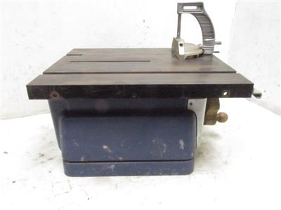 Vintage Sears Roebuck Craftsman Model Bench Top Belt Drive Table Saw