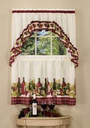 Wine Bottle Kitchen Curtains: Price Finder - Calibex