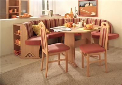 innsbruck orange dining set corner bench kitchen booth nook expandable table ebay. Black Bedroom Furniture Sets. Home Design Ideas