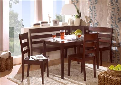 madrid espresso solid wood corner bench kitchen booth breakfast nook set table ebay