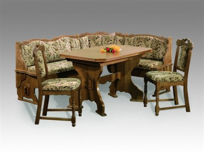 Zwiesel dining set corner bench kitchen booth nook expandable table chairs - Corner bench kitchen table sets ...