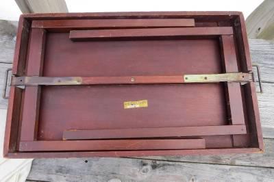 Vintage Folding Table Mahogany 7708 Ferguson Bros Mfg