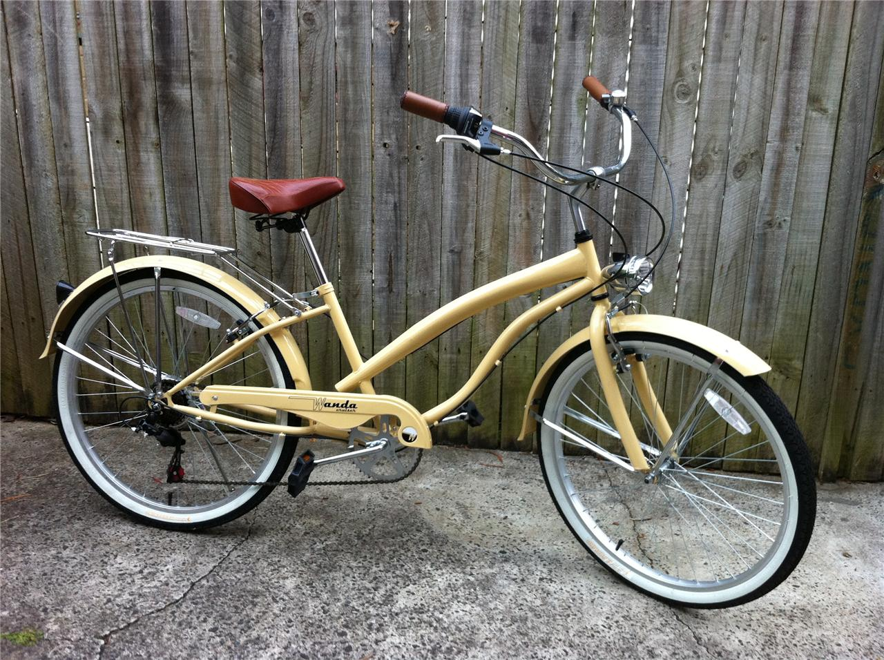 Classic-Vintage-RETRO-BIKE-Beach-Cruiser-Bicycle-with-6-Gears-NEW