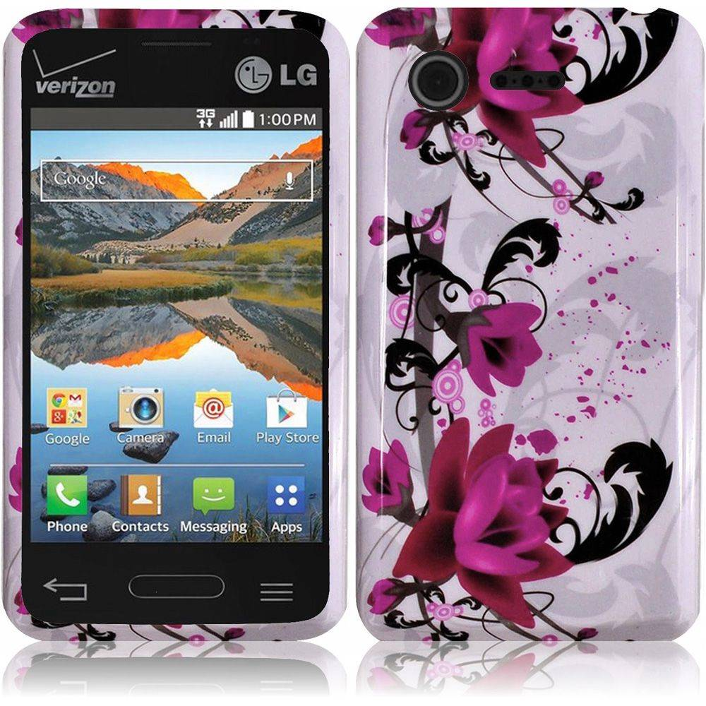 For LG Optimus Zone 2 L34C Fuel Hard Snap on Cover Case