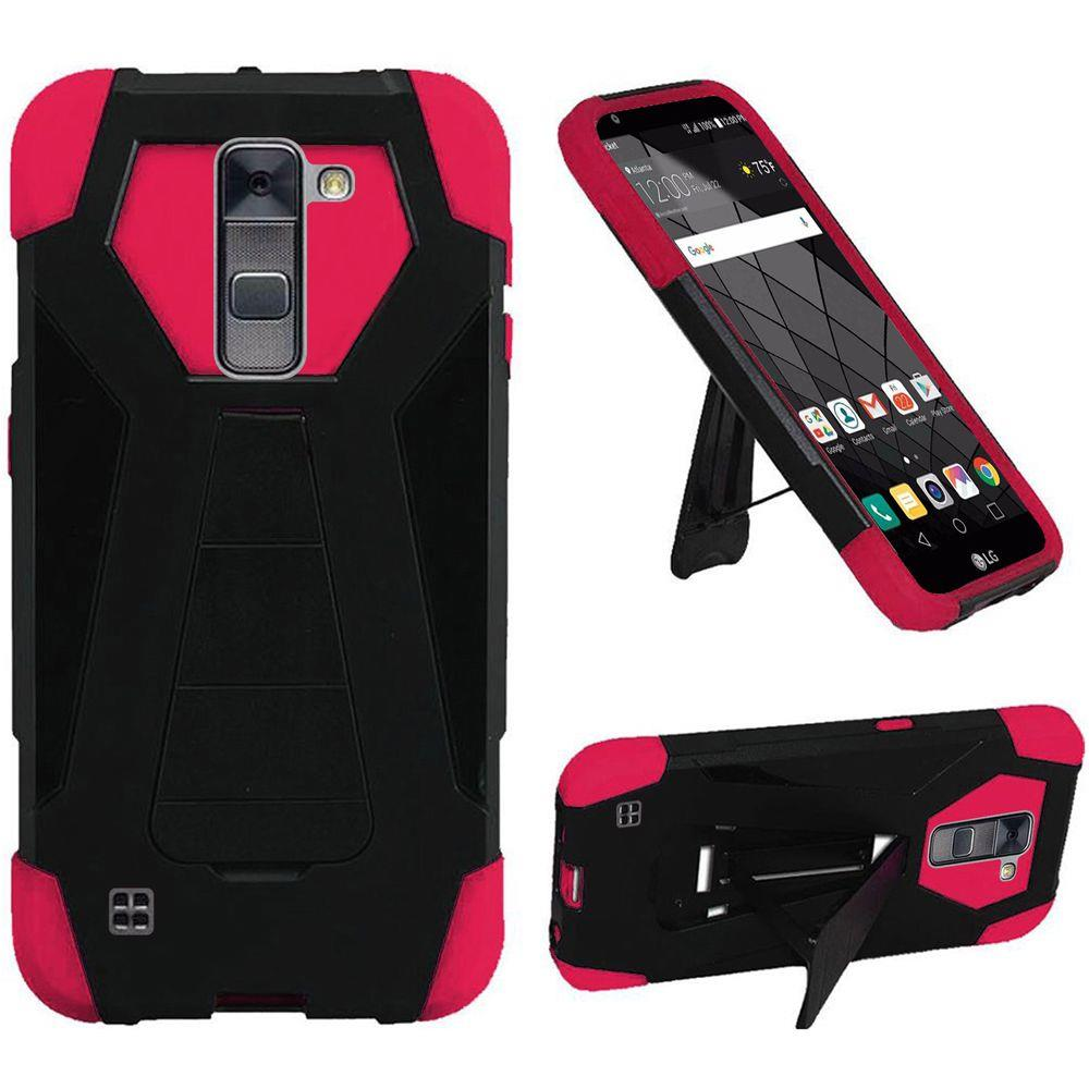 For LG Stylo 2 PLUS MS550 NEW Premium Hybrid TSTAND Cover Case