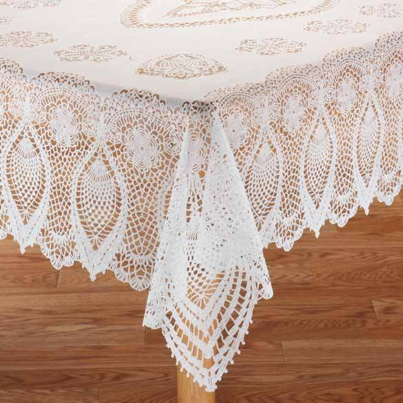 Vinyl-Lace-Tablecloth