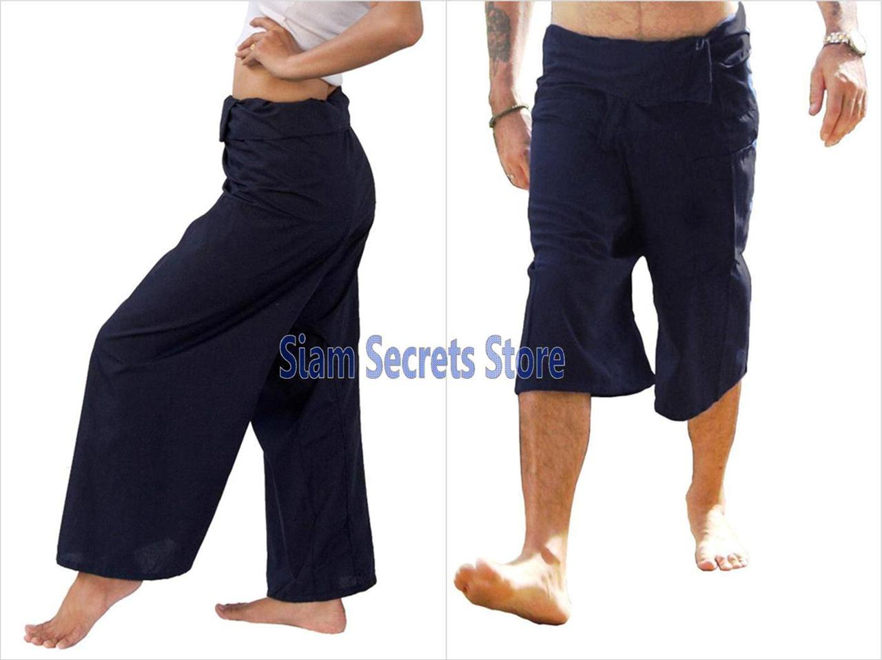 Yoga-Pants-REAL-Cotton-Wrap-Thai-Fisherman-Trousers-Unisex-Free-Size-Options
