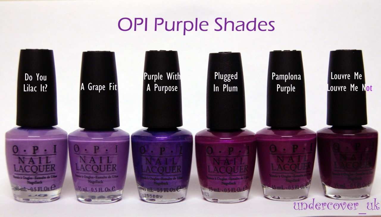 opi nail polish varnish   purple shades   brights