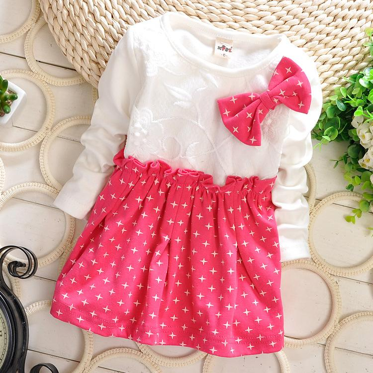New baby girls cotton dress kids spring clothes girls ...