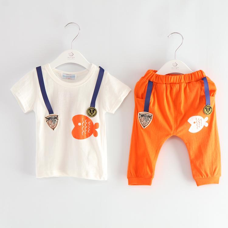 Pcs Baby Boys Cotton Summer Clothes Tops Pants Outfits