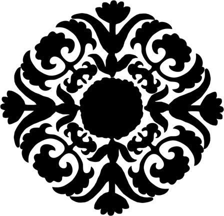 Baroque Filigree Design vinyl embellishment wall decal