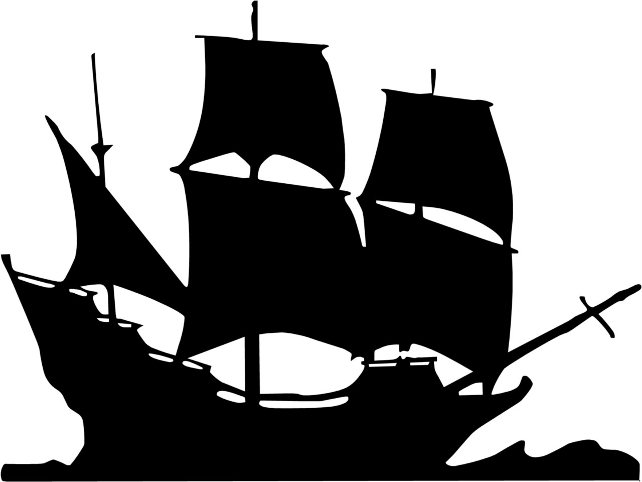 Pirate ship clip art black and white - photo#1