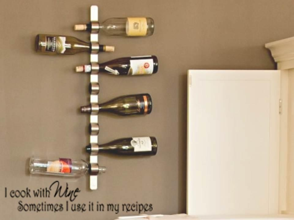 I Cook With Wine Vinyl Kitchen Bar Wall Decal Sticker Art