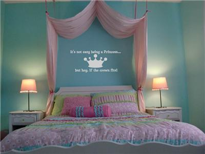 If The Crown Fits Princess Vinyl Wall Art Decal Sticker Girl Bedroom Decor