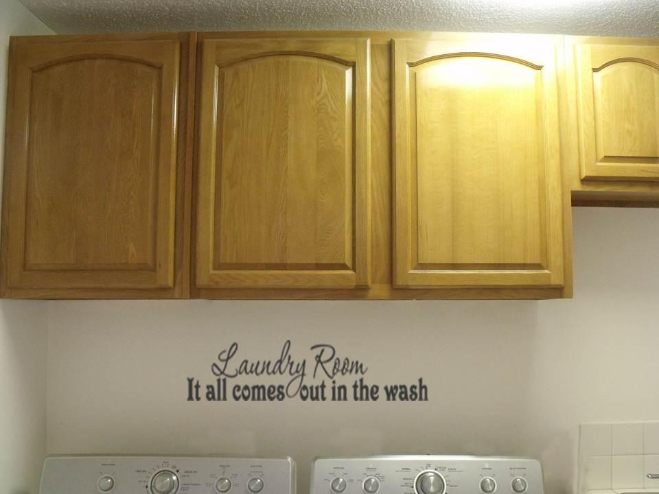 It All Comes Out in The Wash Laundry Room Vinyl Wall Art Decal