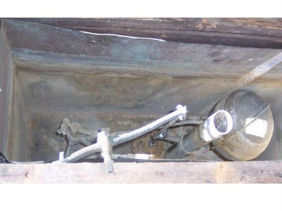 Original antique toilet tank wood box copper tank water for Copper water tank