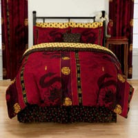 Asian poppy bedding