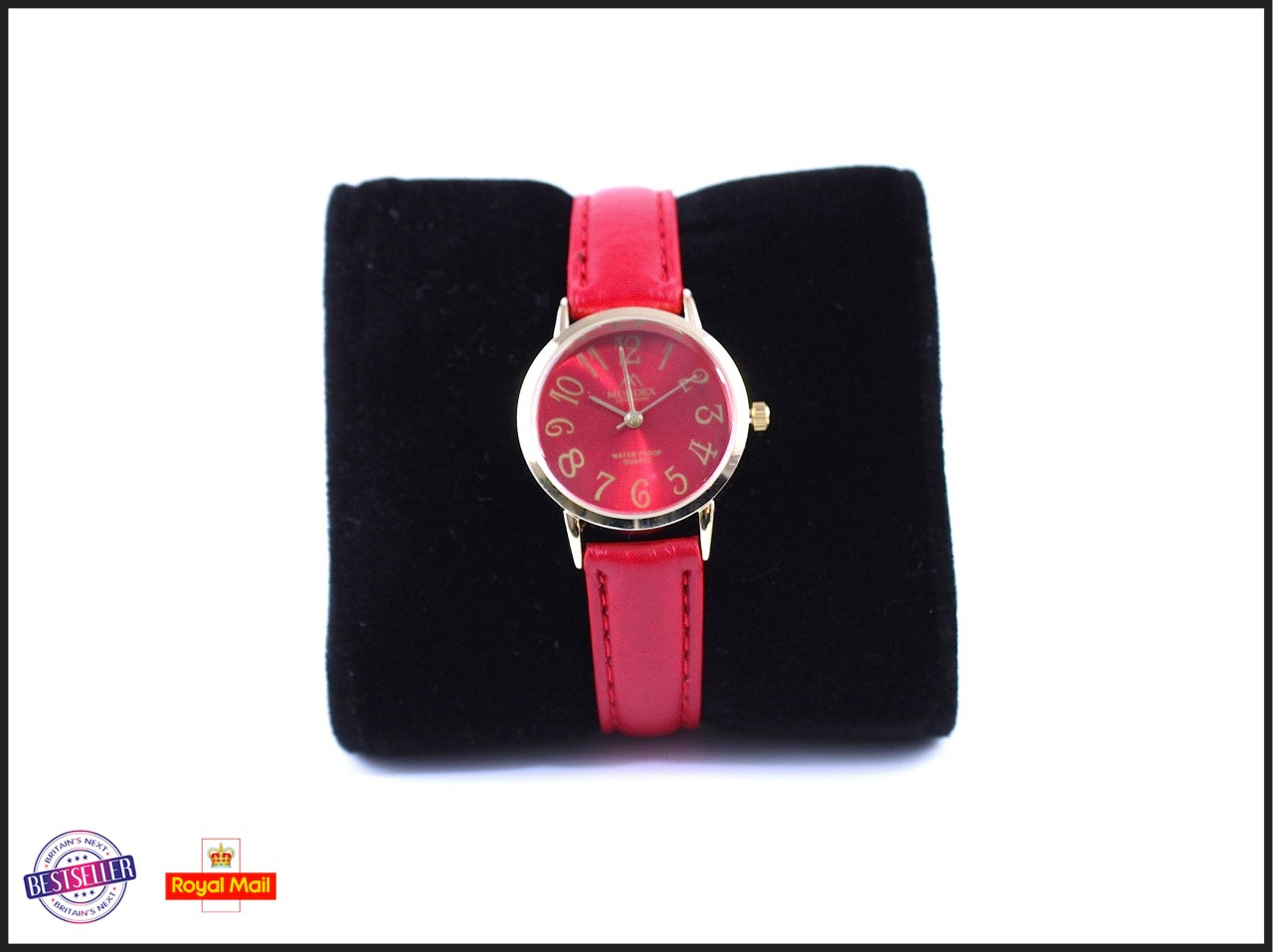 New Mondex Ladies Small Coloured Leather Strap Vintage WaterProof Classic Watch
