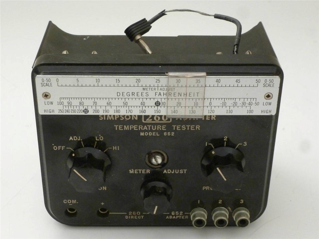Simpson 260 Multimeter Adapter - Model 652