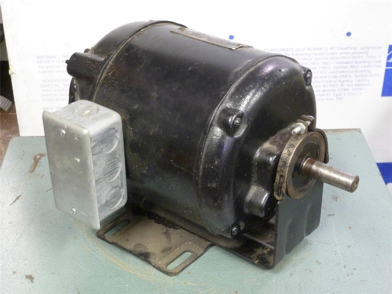 Vintage Wagner 115 Vdc Dc Electric Motor 1 6 Hp Antique Direct Current R 2490 Ebay