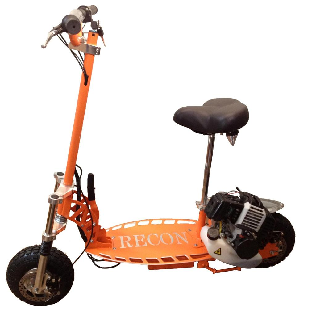 RECON-SCOOTER-49CC-PETROL-ENGINE-DIRT-BIKE-PIT-ATV-MOTO-GAS-NEW-ORANGE-OFF-ROAD
