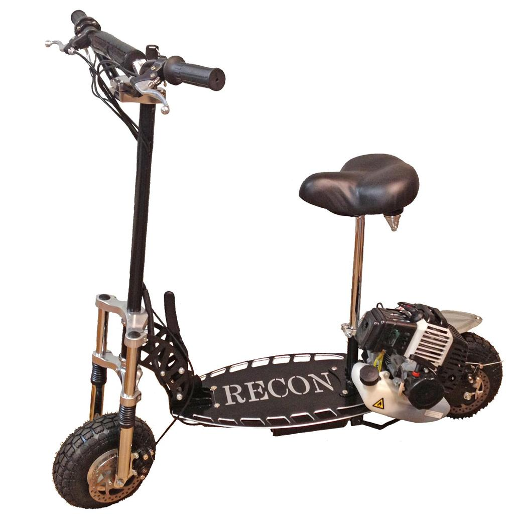 RECON-SCOOTER-49CC-PETROL-ENGINE-DIRT-BIKE-PIT-ATV-MOTO-GAS-NEW-BLACK-OFF-ROAD