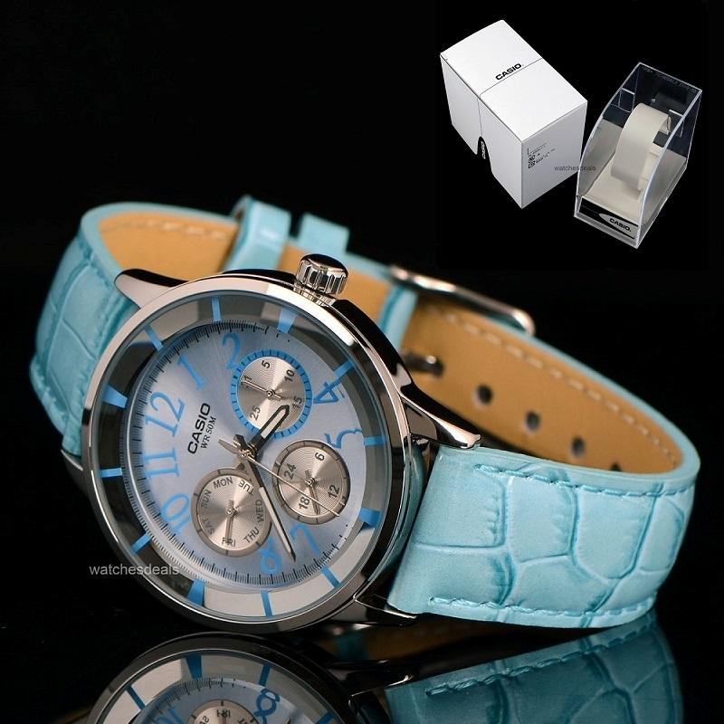 CASIO-LTP2084L-2B-LTP-2084L-2BV-LADIES-ANALOG-PASTEL-BLUE-LEATHER-BLUE-FACE
