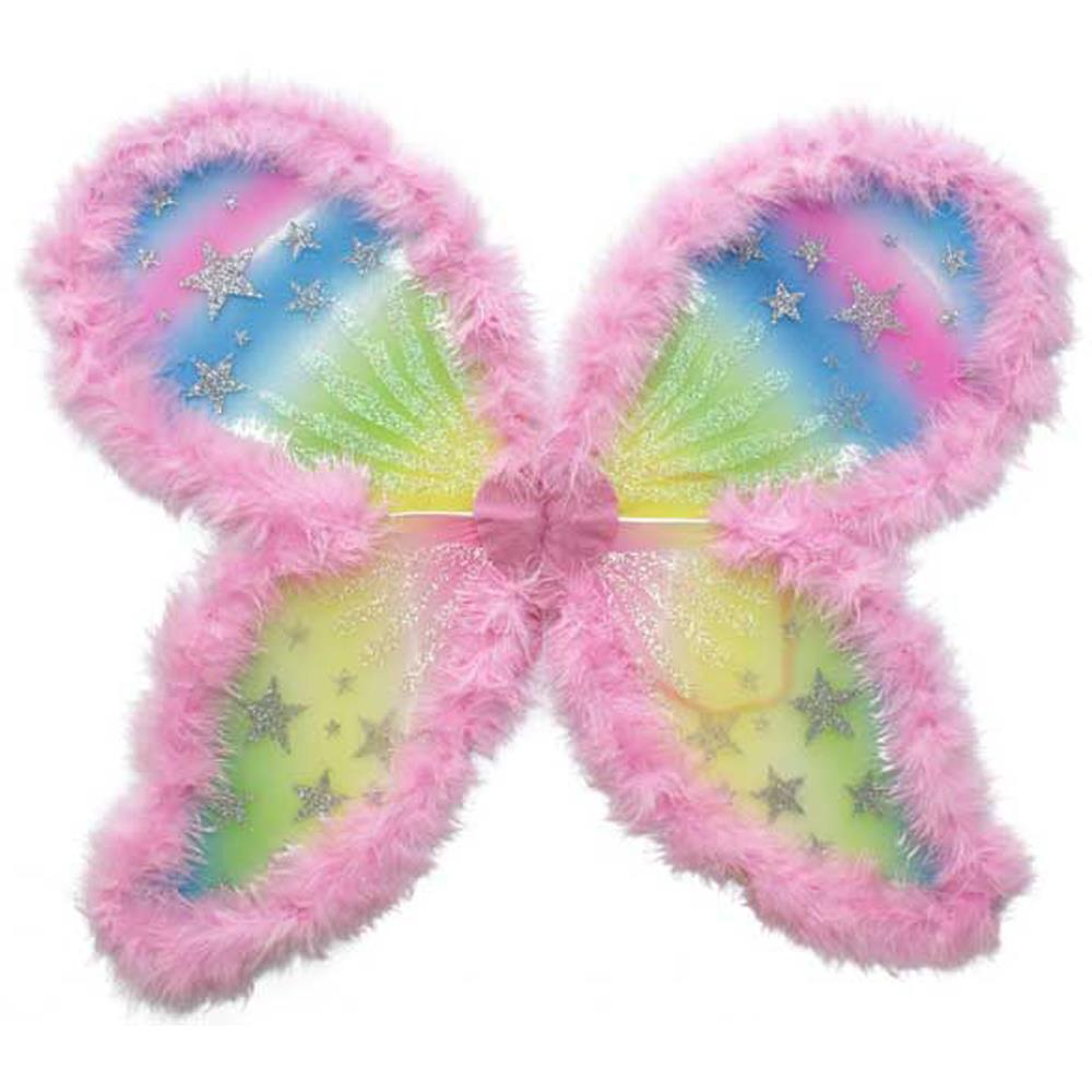 Large Fairy Wings Adult Kids Outfit Girl Fancy Dress Pink ...