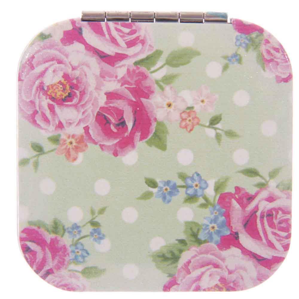 Handbag Magnifying Compact Travel Mirror Pocket Cosmetic
