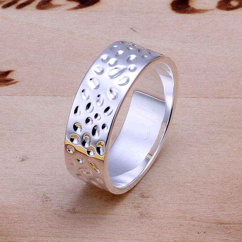 New wholesale Fashion Solid-Silver Jewelry  Ladies/Mens Ring Size:8#  & BoxF925K