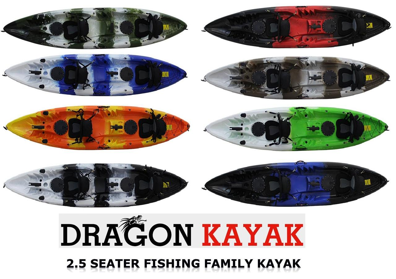 Double family kayak with seats rod holder paddles brand for Fishing kayak brands