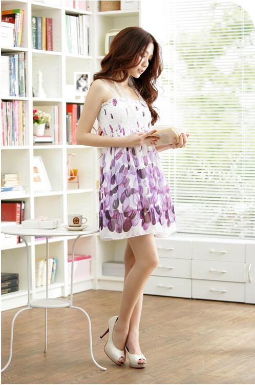 Womens-Hippie-BOHO-Exotic-Summer-Chiffon-Floral-Prints-Dress-Multi-Colors-123