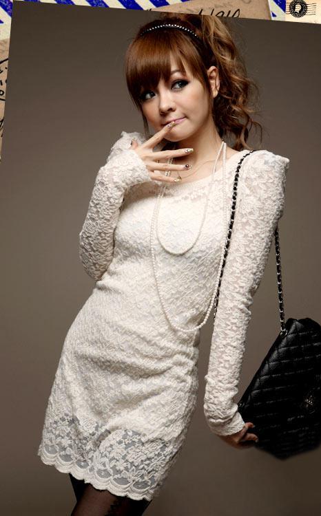 Women-039-s-Slim-Fit-Clubwear-Floral-Lace-Long-Sleeve-Cocktail-Party-Mini-Dress-11