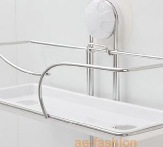 New GarBath Bathroom Suction Cup Bathroom Ladder Shelf
