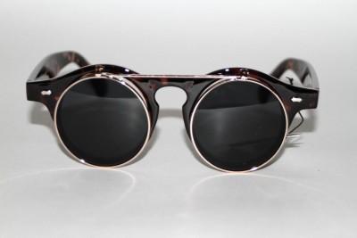 new 90s vintage style john lennon black lenses tortoise frame unisex sunglasses
