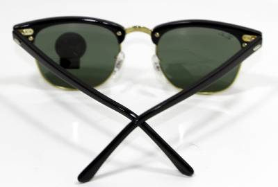 black lens ray bans  clubmaster black
