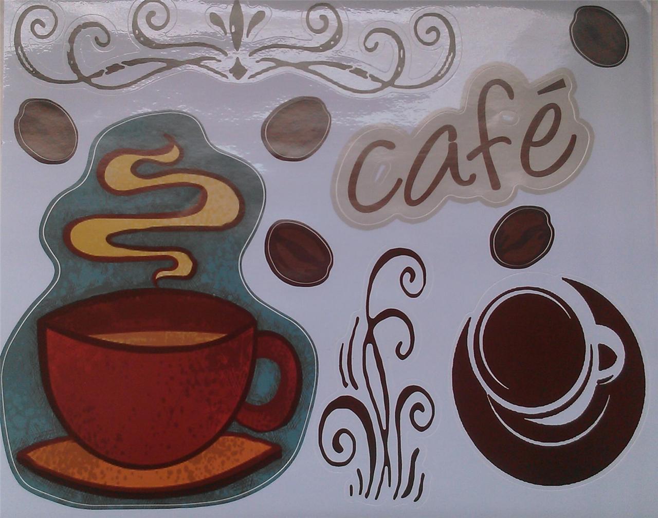 Coffee House Latte Kitchen Vinyl Decal Sticker Interior